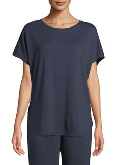 Natori Zen Short-Sleeve Caftan Top