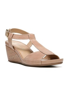 Naturalizer Camilla Leather and Cork Wedge Sandals