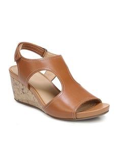 Naturalizer Cinda Leather Wedge Sandals