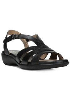 Naturalizer Neina Leather Wedge Sandals