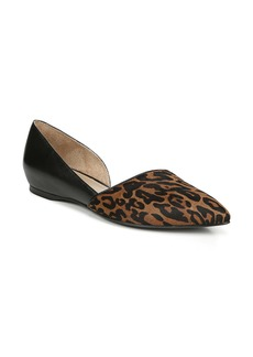 Naturalizer Samantha Half d'Orsay Genuine Calf Hair Flat (Women)