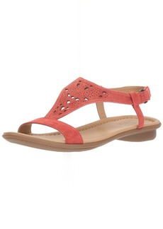 Naturalizer Women's Windham Flat Sandal red  M US