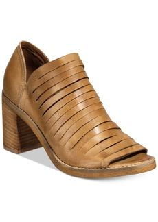 Naughty Monkey Blind Date Block-Heel Peep-Toe Booties Women's Shoes