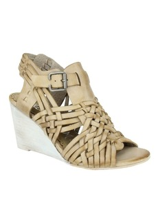 Naughty Monkey Dually Noted Leather Wedge Sandals