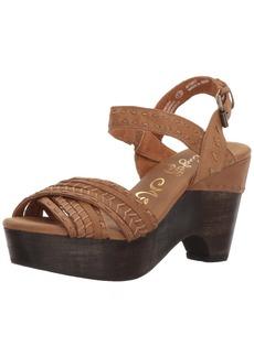 Naughty Monkey Women's Calla Wedge Sandal  7.5 M US