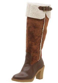 Naughty Monkey Women's Snug L Up Boot with Stacked Heel M