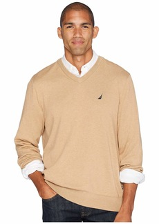 Nautica 12 Gauge Jersey V-Neck Sweater