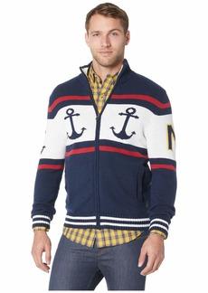 Nautica 5GG Blocked Fair Isle Sweater