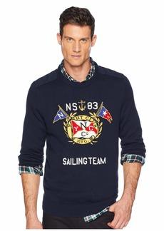 Nautica 9GG Graphic Crew Sweater