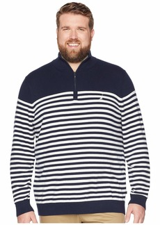 Nautica Big & Tall 1/2 Zip Mock Pullover