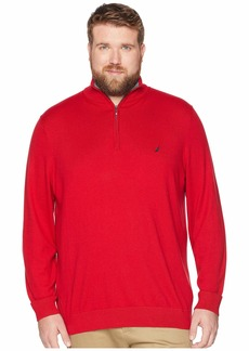 Nautica Big & Tall 1/4 Zip Mock Neck