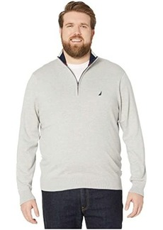 Nautica Big & Tall 1/4 Zip Navtech Mock Neck Sweater