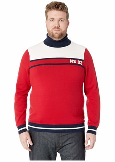 Nautica Big & Tall Blocked Turtleneck