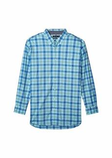 Nautica Big & Tall Casual Plaid Woven Shirt