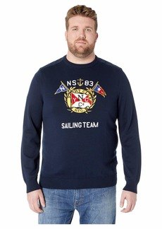 Nautica Big & Tall Graphic Crew