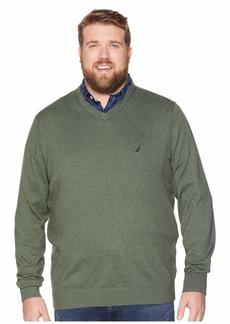 Nautica Big & Tall Jersey V-Neck Sweater