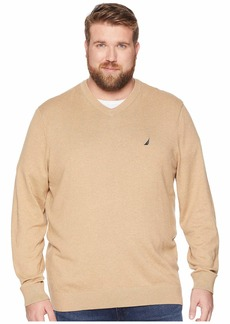 Nautica Big & Tall Jersey V-Neck Sweater