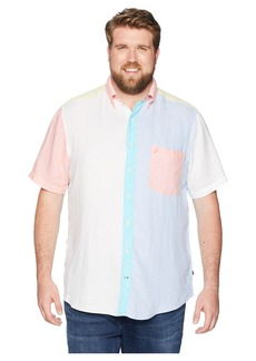 Nautica Big & Tall Linen Pieced Short Sleeve