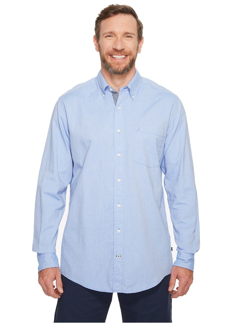 Nautica Big & Tall The Hitch Long Sleeve Oxford Woven Shirt