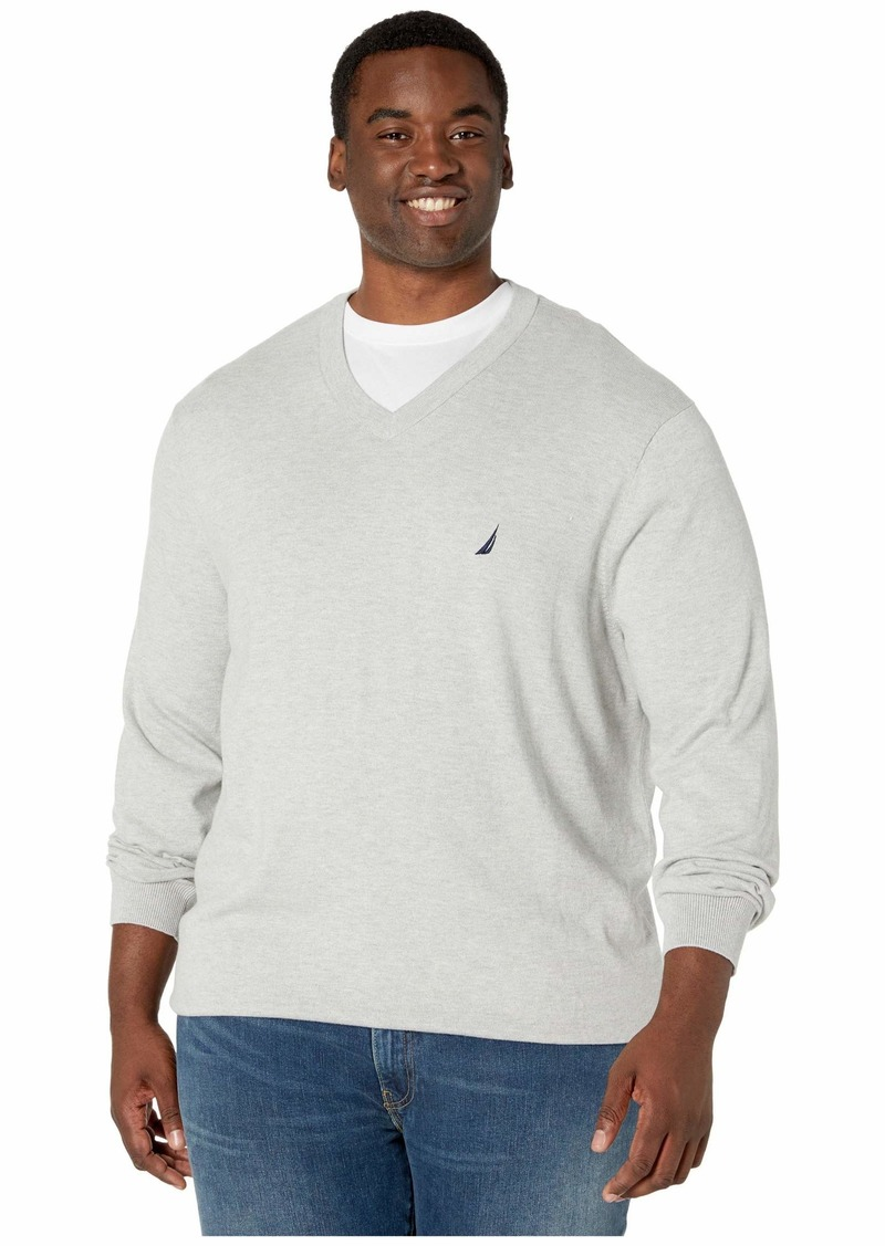 Nautica Big & Tall V-Neck Navtech Knit Sweater