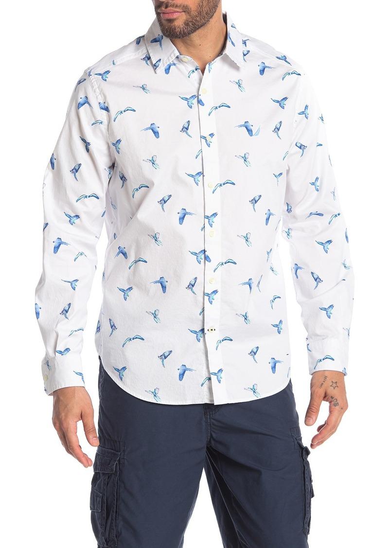 Nautica Bird Print Poplin Shirt