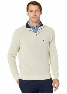 Nautica Button Mock Neck Sweater