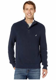 Nautica Button Mock Neck Sweater