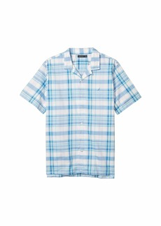 Nautica Casual Plaid Woven Camp Shirt