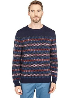 Nautica Classic Fit Fair Isle Print Sweater