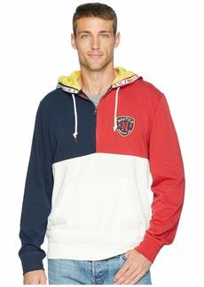 Nautica Color Blocked 1/4 Zip Pullover Hoodie