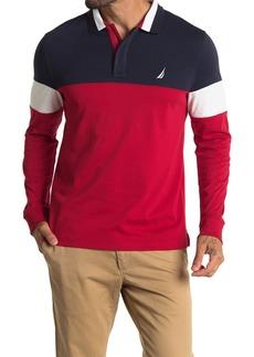 Nautica Colorblock Long Sleeve Polo