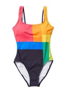 Nautica Colorblock One-Piece Swimsuit