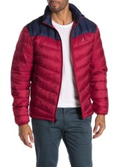 Nautica Colorblock Quilted Insulated Lightweight Jacket