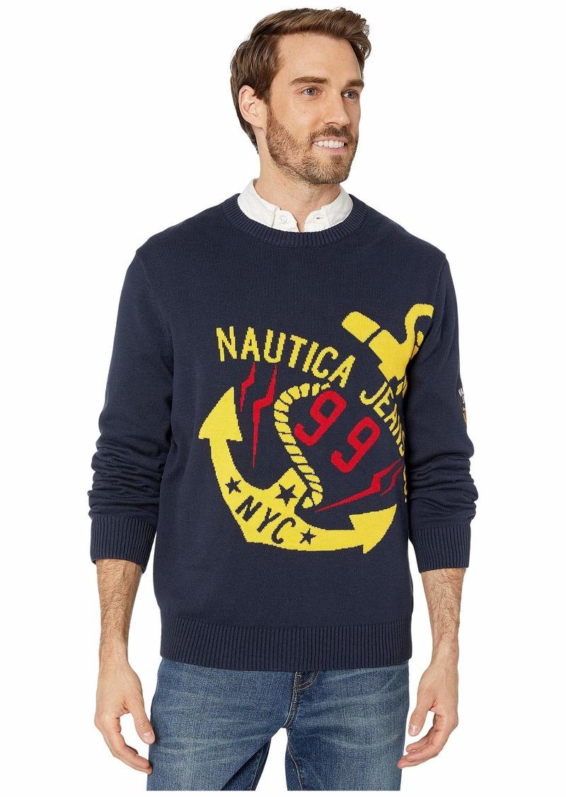 Nautica Crew Intarsia Sweater