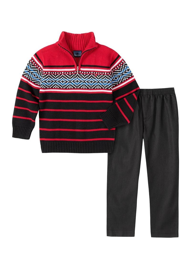 Nautica Boys Toddler Fleece Color Block Pullover