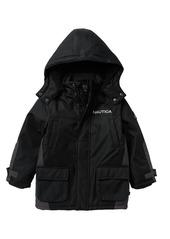 Nautica Faux Shearling Trimmed Ash Ballistic Jacket (Little Boys)