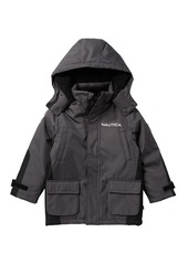 Nautica Faux Shearling Trimmed Ash Ballistic Jacket (Little Boys)