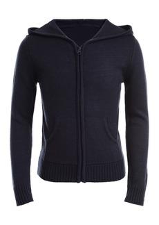 Nautica Front Zip Uniform Hoodie (Big Girls)