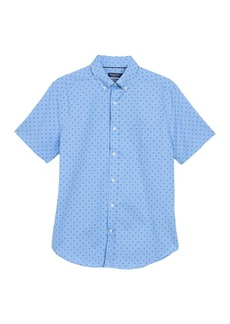 Nautica Geometric Print Short Sleeve Shirt