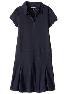 Nautica Girls Plus Short Sleeve Performance Dress (Big Kids)