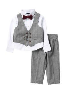 Nautica Glen Plaid Vest, Shirt & Bow Tie, & Pants Set (Toddler Boys)