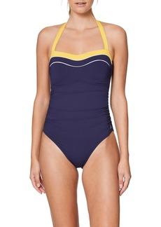 Nautica Halter Sweetheart Neck One-Piece Swimsuit