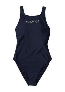 Nautica High Neck One-Piece Swimsuit