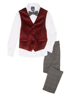 Nautica Holiday Velvet Vest 4-Piece Suit (Toddler & Little Boys)