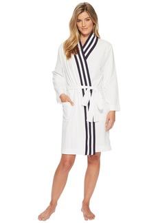 Nautica Kimono Robe with Navy Rib Stripe