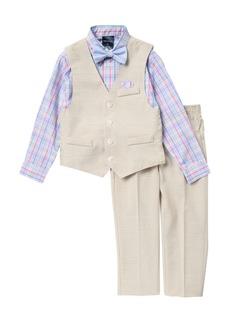 Nautica Linen Look Vest Set (Toddler Boys)