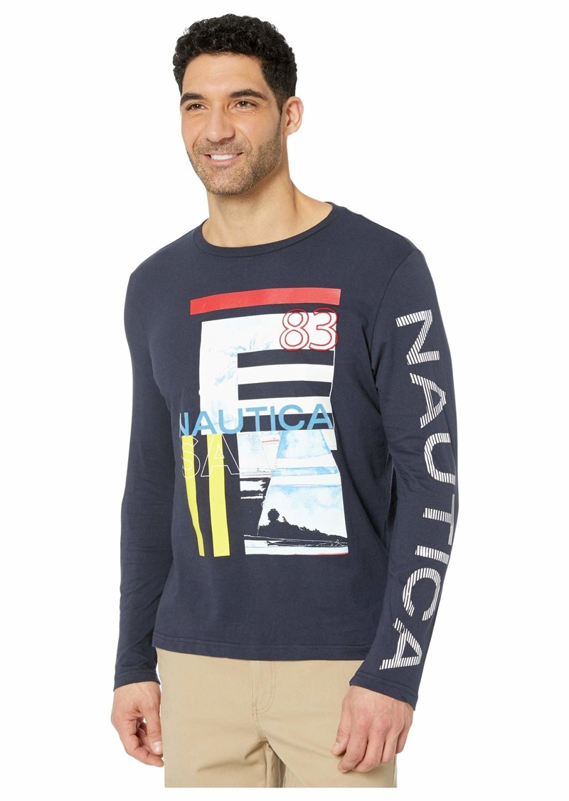 Nautica Long Sleeve Graphic Tee