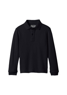 Nautica Long Sleeve Pique Polo (Big Kids)