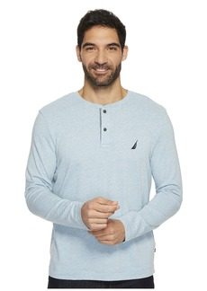 Nautica Long Sleeve Snow Cotton Henley