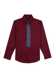 Nautica Long Sleeve Stretch Shirt & Tie Set (Big Boys)